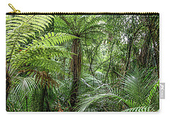 Carry-all Pouch featuring the photograph Jungle Ferns by Les Cunliffe