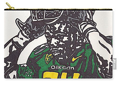 Carry-all Pouch featuring the drawing Kenjon Barner 1 by Jeremiah Colley