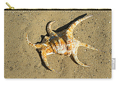 Carry-all Pouch featuring the photograph Lambis Arthritica Spider Conch by Frank Wilson