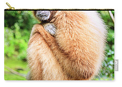 Carry-all Pouch featuring the photograph Lar Gibbon by Alexey Stiop