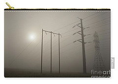 Large Transmission Towers In Fog Carry-all Pouch