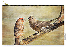 2 Little Love Birds Carry-all Pouch