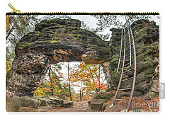 Carry-all Pouch featuring the photograph Little Pravcice Gate - Famous Natural Sandstone Arch by Michal Boubin