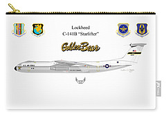 Carry-all Pouch featuring the digital art Lockheed C-141b by Arthur Eggers
