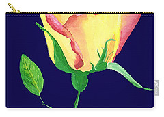 Carry-all Pouch featuring the painting Love In Bloom by Rodney Campbell