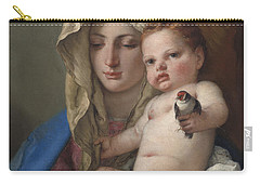 Madonna Of The Goldfinch Carry-all Pouch by Giovanni Battista Tiepolo