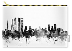 Madrid Spain Skyline Carry-all Pouch by Michael Tompsett