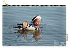 Carry-all Pouch featuring the photograph Mandarin Duck by Michal Boubin