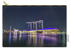 Marina Bay Sands And The Artscience Museum In Singapore Carry-all Pouch