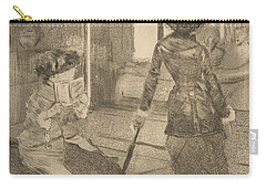 Mary Cassatt At The Louvre Carry-all Pouch