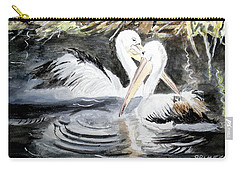 2 Mate Pelicans Carry-all Pouch