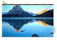 Carry-all Pouch featuring the photograph 2 Medicine Morning Glow by Adam Jewell