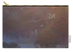 Carry-all Pouch featuring the photograph Misty Woods by Rhonda McDougall
