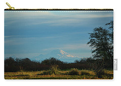 Mount Rainier In The Distance Carry-all Pouch by Ronda Broatch