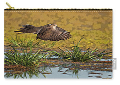 Carry-all Pouch featuring the photograph Mourning Dove In Flight by Tam Ryan