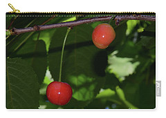 Carry-all Pouch featuring the photograph My Cherry by Elvira Ladocki