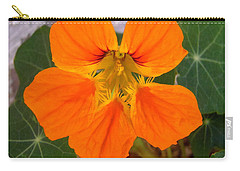 Carry-all Pouch featuring the photograph Nasturtium by Stephanie Moore