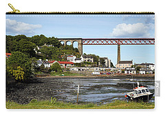 Carry-all Pouch featuring the photograph North Queensferry by Jeremy Lavender Photography