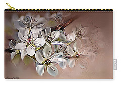 Carry-all Pouch featuring the painting Oriental Pear Blossom by Bonnie Willis