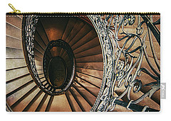 Carry-all Pouch featuring the photograph Ornamented Spiral Staircase by Jaroslaw Blaminsky