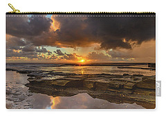 Overcast And Cloudy Sunrise Seascape Carry-all Pouch