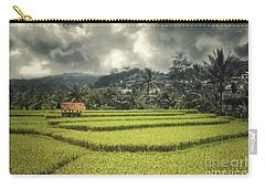Carry-all Pouch featuring the photograph Paddy Field by Charuhas Images