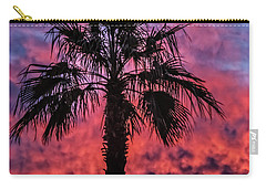 Carry-all Pouch featuring the photograph Palm Tree Silhouette by Robert Bales