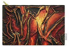 Carry-all Pouch featuring the mixed media Passion by Angela Stout