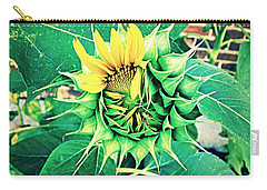 Peeping Sunflower Carry-all Pouch by Angela Annas
