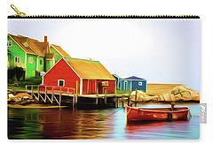 Peggy's Cove Carry-all Pouch by Andre Faubert