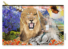 Carry-all Pouch featuring the digital art Perfect Peace by Dolores Develde