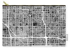 Phoenix Arizona City Map Carry-all Pouch
