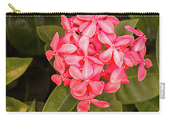Pink Flower Carry-all Pouch by James Gay