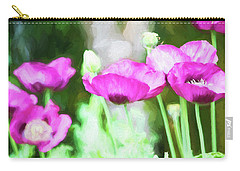 Carry-all Pouch featuring the painting Poppies by Bonnie Bruno