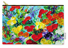 Carry-all Pouch featuring the painting Poppies by Teresa Wegrzyn