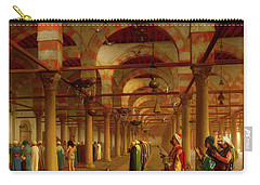Carry-all Pouch featuring the painting Prayer In The Mosque by Jean-Leon Gerome