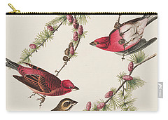 Purple Finch Carry-all Pouch by John James Audubon