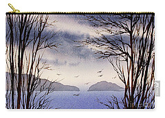 Carry-all Pouch featuring the painting Quiet Shore by James Williamson