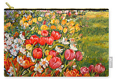 Red Tulips Carry-all Pouch by Alexandra Maria Ethlyn Cheshire