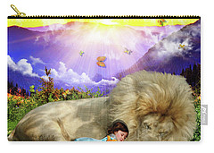 Carry-all Pouch featuring the digital art Rest  by Dolores Develde
