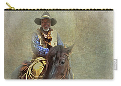 Carry-all Pouch featuring the photograph Ride Em Cowboy by David and Carol Kelly