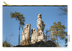 Carry-all Pouch featuring the photograph Rock Formations In The Bohemian Paradise Geopark by Michal Boubin