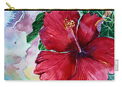 Rose Of Sharon Carry-all Pouch by Mindy Newman