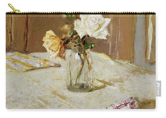 Roses In A Glass Vase Carry-all Pouch