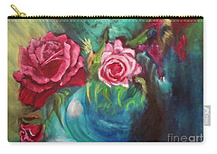 Roses One Of A Kind Handmade Carry-all Pouch