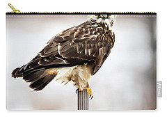 Rough-legged Hawk Carry-all Pouch by Ricky L Jones