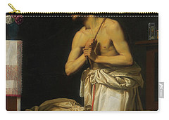 Carry-all Pouch featuring the painting Saint Dominic In Penitence by Filippo Tarchiani