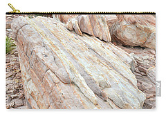 Carry-all Pouch featuring the photograph Sandstone Slope In Valley Of Fire by Ray Mathis