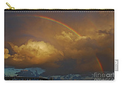 Carry-all Pouch featuring the photograph 2- Singer Island Stormbow by Rainbows