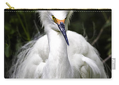 Snowy Egret Carry-all Pouch by Fran Gallogly